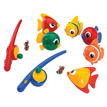 NURSERY TOYS, FISHING SETS, MAGNETIC FISHING SET, Age 18 mths +, Set of 8