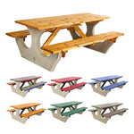 CONCRETE AND TIMBER, Bench Table Standard Top, Red, Anchor Fast, Each