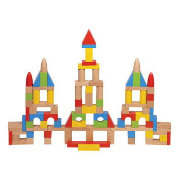 BUILDING BLOCKS, Basic Building Blocks, Set of 100 pieces
