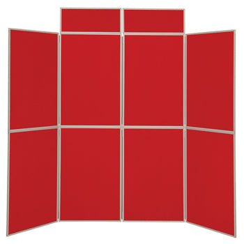 LIGHTWEIGHT FOLD-UP DISPLAY SCREEN, Floor Standing, 8 Panel Screens, Red