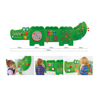 WALL PANELS, CROCODILE WALL GAME PANEL, Each