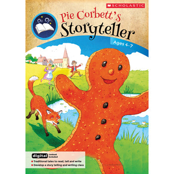 PIE CORBETT VIDEOS & STORYTELLING ACTIVITIES, The Gingerbread Man, Ages 4-7, Each