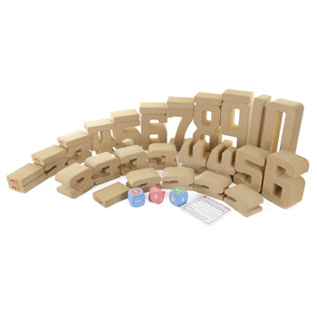 GIANT SOFT NUMBERS LEARNING BLOCK SET, Age 3+, Set of 37