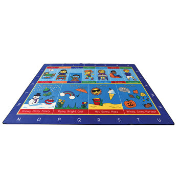 LEARNING RUGS, CHILDREN'S CUT PILE RUGS, Large Seasonal Routines, 2570 x 3600mm, Each
