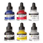 Daler-Rowney System 3 Acrylic Ink Introduction Set, Assorted, Set of 6 x 29.5ml