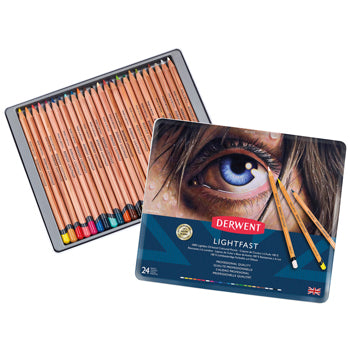 Coloured Pencils, Derwent Lightfast, Pack of 24