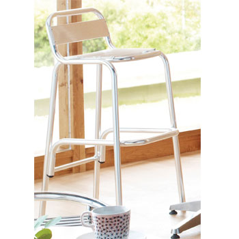 ALUMINIUM CAFE FURNITURE, SEATING, High Stool, 470 x 580 x 980mm height