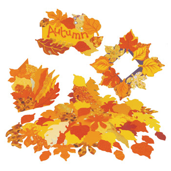 SHAPED PAPER, AUTUMN LEAVES, Mixed Size Autumn Leaves, Pack of 250
