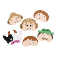 TRADITIONAL STORY MASK SET, Jack and the Beanstalk, Set of 6