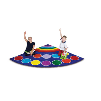KIT FOR KIDS,, RAINBOW(TM) PLACEMENT CARPETS, CORNER, 2000 x 2000mm, Each