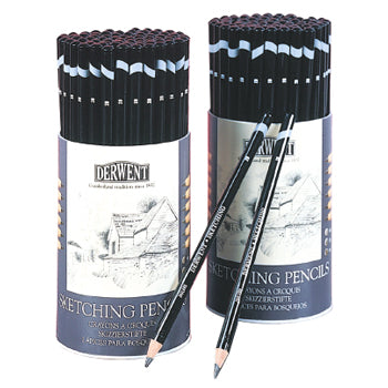 SKETCHING PENCILS, Derwent, 4B, 2B & HB, Tub of 72
