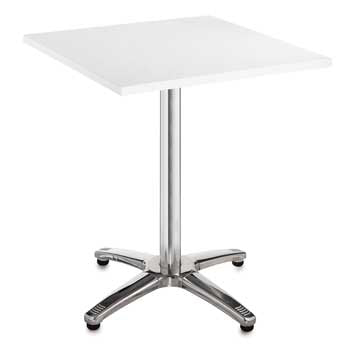 TABLES, ALUMINIUM STAR BASE, Square, 700 x 700 x 725mm height, White