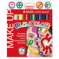 FACE PAINTS, Playcolor Sticks, Pack of 6 x 5g