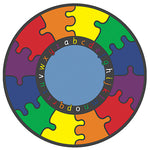 LEARNING RUGS, CHILDREN'S CUT PILE RUGS, ABC Rainbow Puzzle, Round, 1980mm diameter, Each