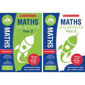 NATIONAL CURRICULUM SATS BOOSTER CLASSROOM PROGRAMME, Maths Workbook, Year 2, Pack of 10