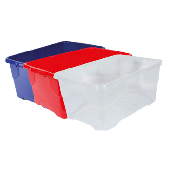 SMARTLINES STORAGE BOXES, 24 litres, Clear, Each