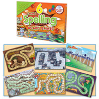 SMART KIDS, BOARD GAMES,Spelling and Language, Level 2, Age 6-9, Set of 6