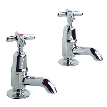 TAPS, Pillar, Peglers Performa Crosstop, Sink, 1/2'' High Neck No. 2158, Pair
