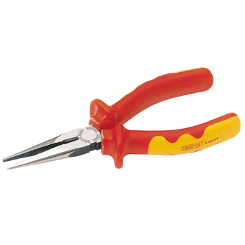 PLIERS, Long Nose, Insulated Handle, 160mm, Each