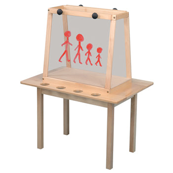 SOLID BEECH FRAMED EASELS, Perspex, 2 Sided - 2 Boards, Each