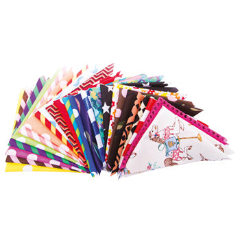 TEXTILES, FABRIC PACKS, Patterned Squares, 250 x 250mm approx., Pack of 25