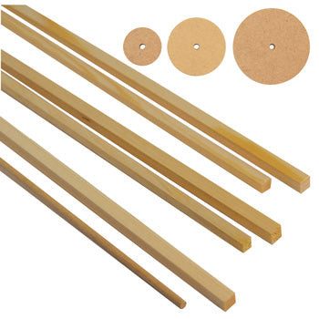 CRAFTPACKS, Redwood and Dowel, Pack of 82 pieces