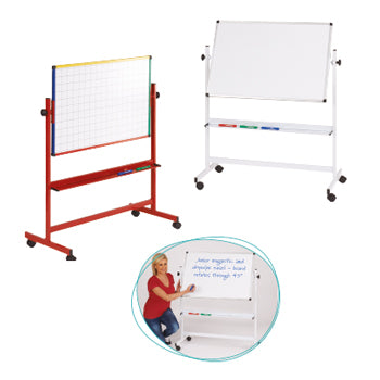 JUNIOR MOBILE EASEL, Coloured