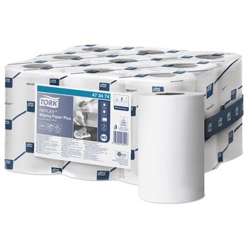 TORK REFLEX(TM) SINGLE SHEET CENTREFEED, Reflex Mini Wiping Paper Plus, Case of 9 rolls
