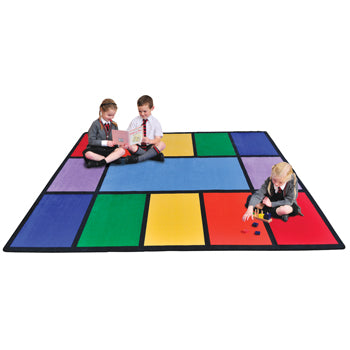 LEARNING RUGS, CHILDREN'S CUT PILE RUGS, Large Rainbow, Rectangular, 2515 x 3555mm, Each