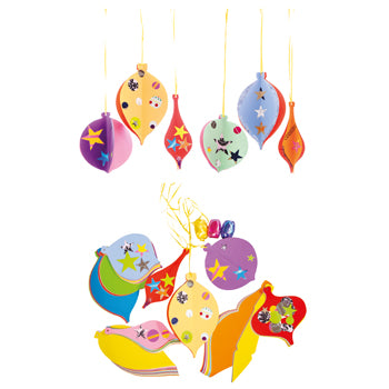 FOLDING BAUBLES & COLLAGE, Pack of 100