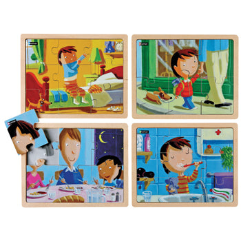 MY DAY PUZZLES, Age 3+, Set of 4