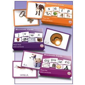 SMART PHONICS, MNEMONIC CARDS, Letters and Sounds, Phase 5, Set of 24