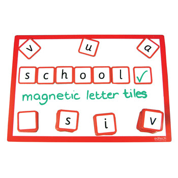 MAGNETIC TILES, Letter, Pack of 98