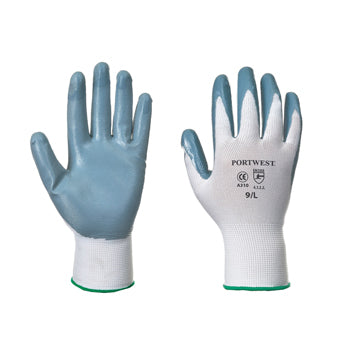 GENERAL HANDLING GLOVES, Sponge Nitrile Coated, Medium, Pair