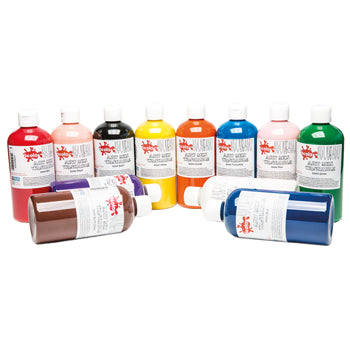 PAINT, READY MIXED WASHABLE, Introductory Pack, Pack of 12 x 500ml