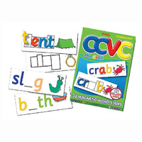 MAGNET WORD STRIPS, CCVC Consonant and Vowels, Set