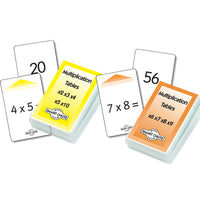 SMART CHUTE CARDS, Multiplication Facts Level 1 & 2, Pack of 2 sets