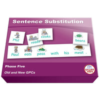 SMART PHONICS, SENTENCE SUBSTITUTION, Phase Five Set 2, Set