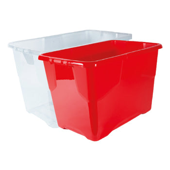 SMARTLINES STORAGE BOXES, 65 litres, Clear, Each