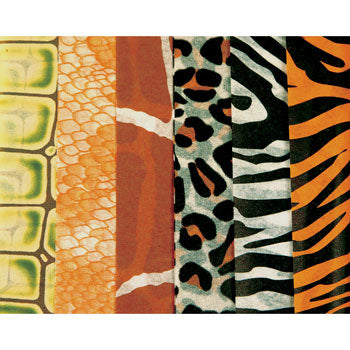TISSUE PAPER, Animal Prints Assorted, Pack of 2 x 6 sheets