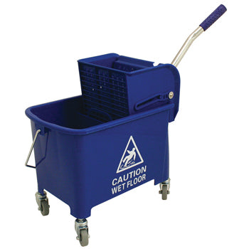 BUCKET, MOP, Combo Bucket with Wringer, 20 litre, Green, Each