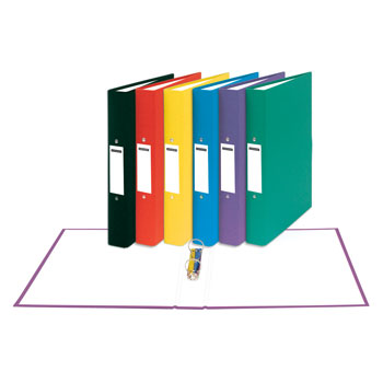 RING BINDERS, A4, 2 RING ('O' Shaped), Recycled Ring Binders, 25mm Capacity, Purple, Box of 10