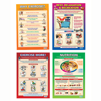GOOD HEALTH POSTERS, Set of 4