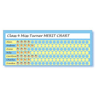 MOTIVATION & REWARD, A3 CLASSROOM CHART WITH STARS, The Sticker Factory, Pack of 1 chart with 720 stars