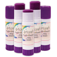 GLUE STICKS, Colour Changing, Pack of 12 x 40g