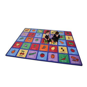 LEARNING RUGS, CHILDREN'S CUT PILE RUGS, Large Healthy Eating, 3555 x 2515mm, Each