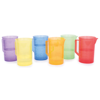 TRANSLUCENT COLOUR JUGS, Age 18 months+, Set of 6