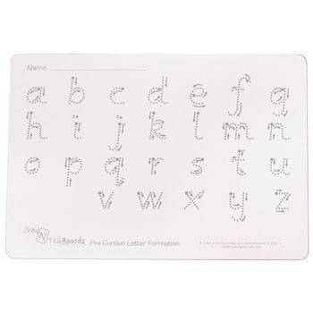 WRITE 'N' WIPE BOARDS, Letter Formation - Rigid, A4, Pack of 5