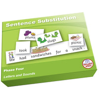 SMART PHONICS, SENTENCE SUBSTITUTION, Phase Four, Set