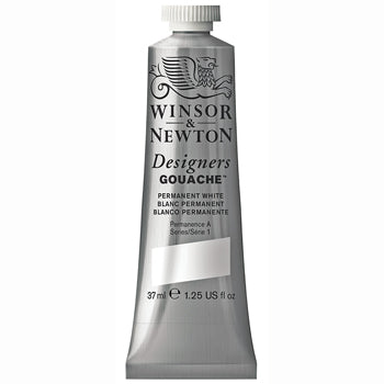 GOUACHE, White, Pack of 3 x 37ml
